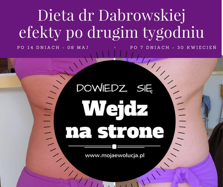Dieta dr Dąbrowskiej efekty po dwóch tygodniach. Dowiedz się więcej wchodząc na stronę www.mojaewolucja.pl