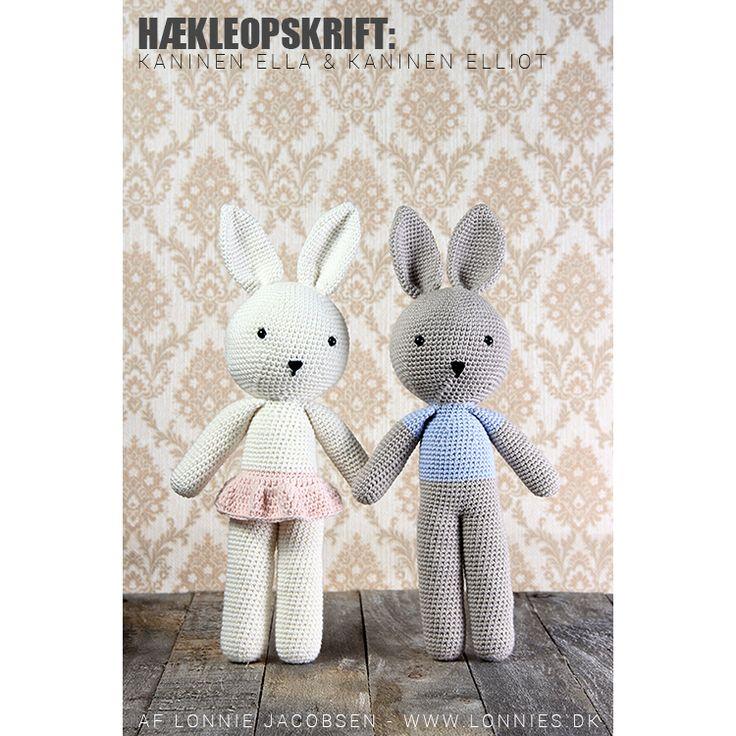 Hækleopskrift: Kaninerne Ella & Elliot