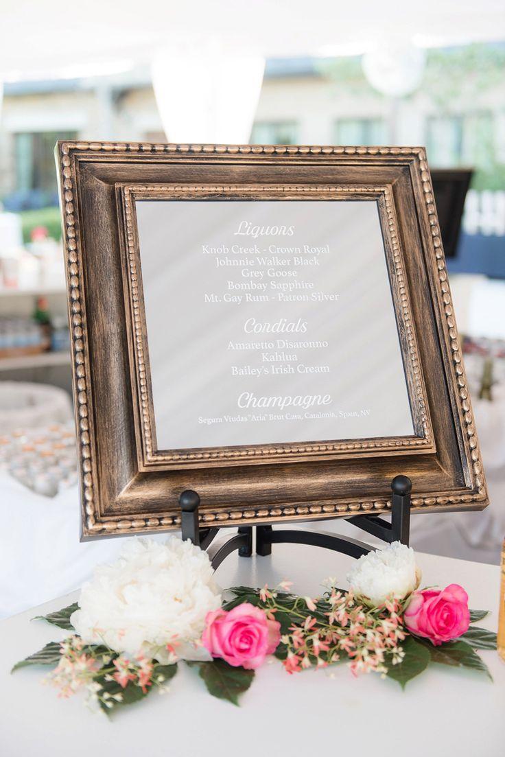 Wedding drink menu ideas (Eric & Jamie Photography)