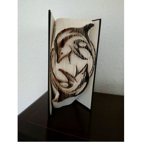 YING AND YANG DOLPHINS Book Folding Patterns / Templates and Book Folding Software on Bookami®