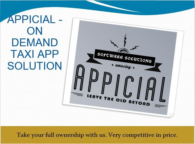 Uber like #TaxiAppSolution by Taxi App source code