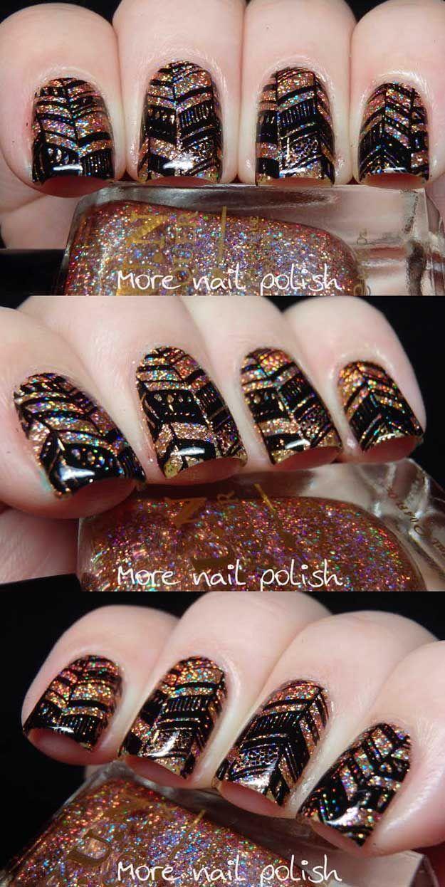 Beauty Hacks : Chevron Nail Art Ideas - Fun Lacquer Royal Chapel with Chevron stamping - Best C... #Hacks https://inwomens.com/2018/02/19/beauty-hacks-chevron-nail-art-ideas-fun-lacquer-royal-chapel-with-chevron-stamping-best-c/