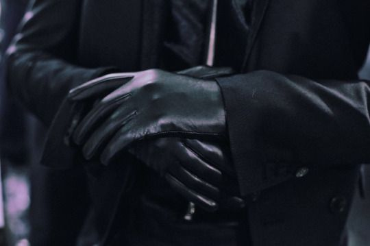 (Closed RP) Pulling the gloves over his knuckles and resting the cuffs of them…