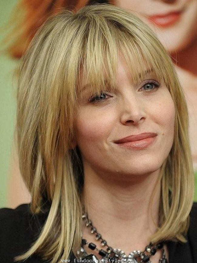Hairstyles For Straight Hair With Bangs And Layers : Shoulder length layered bob hairstyles with bangs for