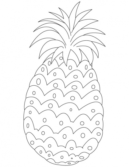 Pineapple Coloring Page | Download Free Pineapple Coloring Page for kids | Best Coloring Pages