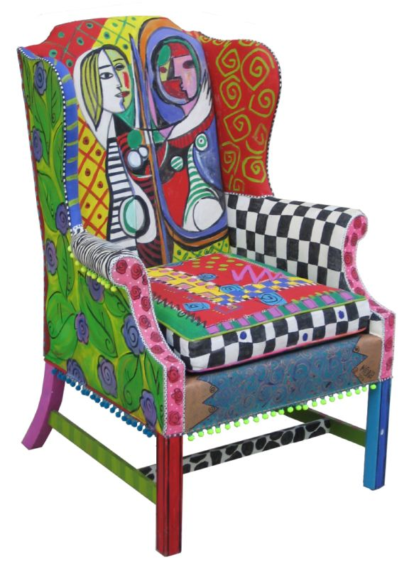 colorful had painted furniture | Jazz and Poetry: MONA! Adds Local Color