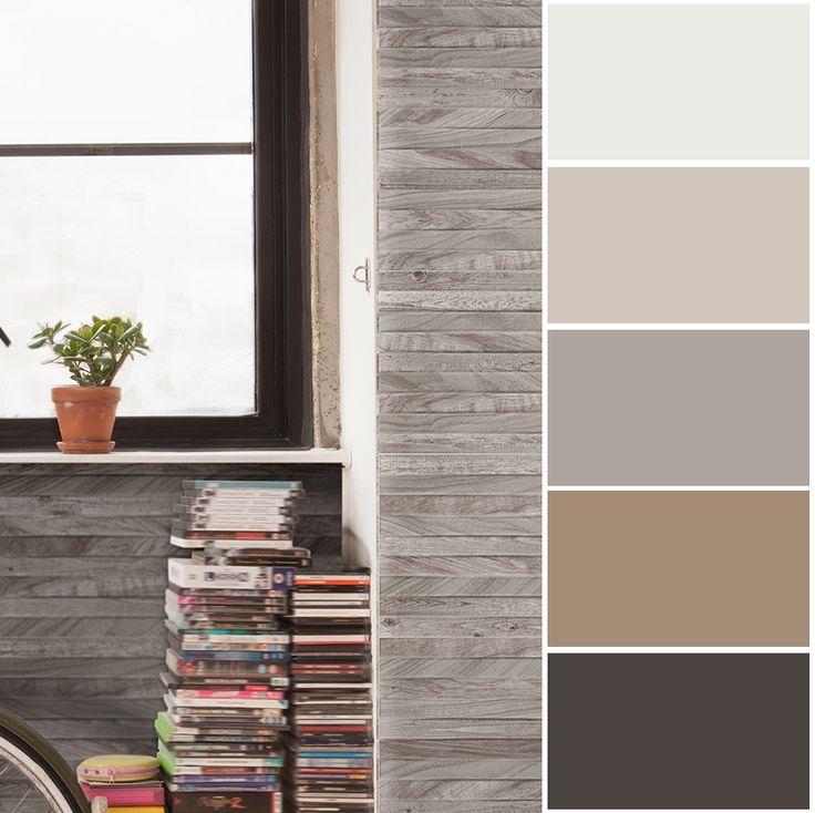 Las tonalidades grises y cafés son perfectas para un estudio.
