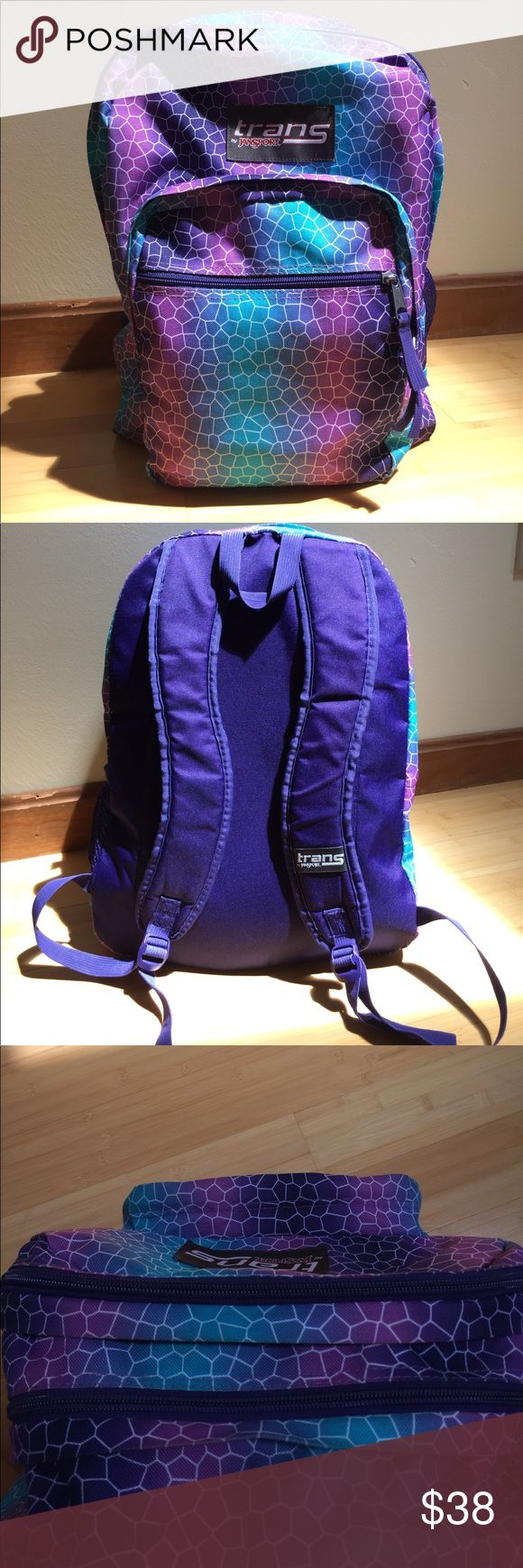 Jansport 4 Pocket Backpack Purple Turtle Print mildly used only a few time maybe once or twice. Jansport Other