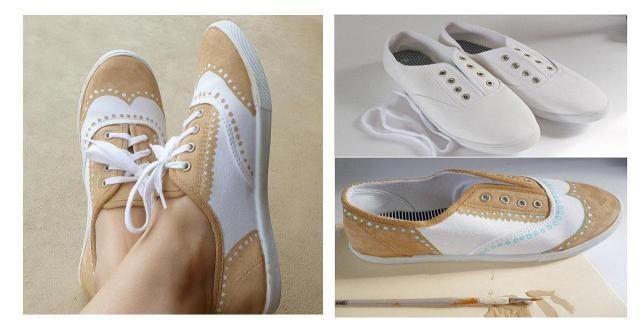 Prosty sposób na przerobienie tenisówek w niesamowite buty #DIY #ZRÓB TO SAMA #KROK PO KROKU #NOWE #TRAMPKI #BUTY
