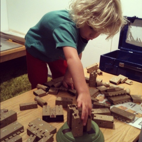 Building a castle at Charnwood Museum