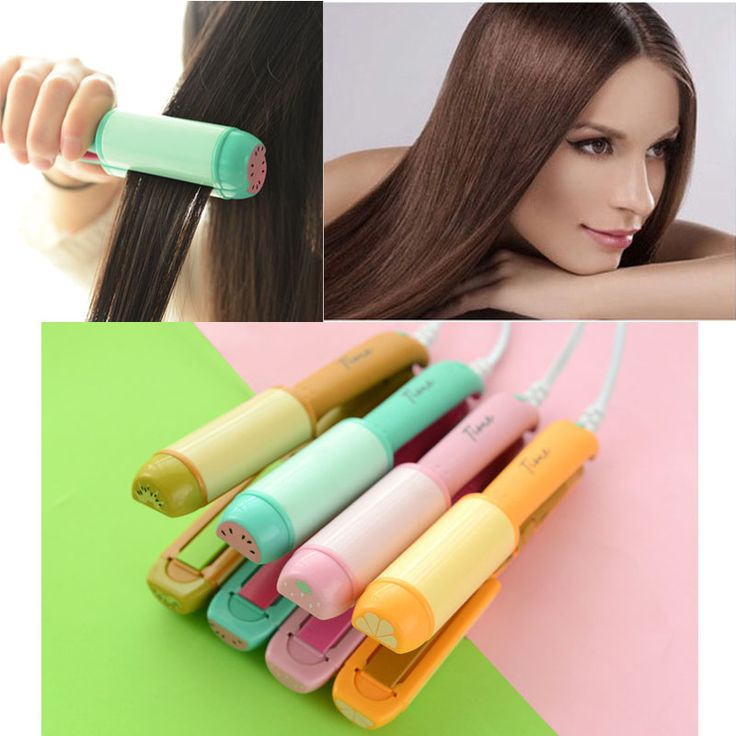 New mini portable fruit cartoon electric straight volume dual hair Straightening iron curling hair tool