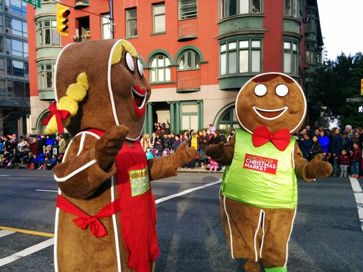 Holly and Jolly are so happy to be part of the Rogers Santa Claus Parade in downtown Vancouver. They are definitely excited!