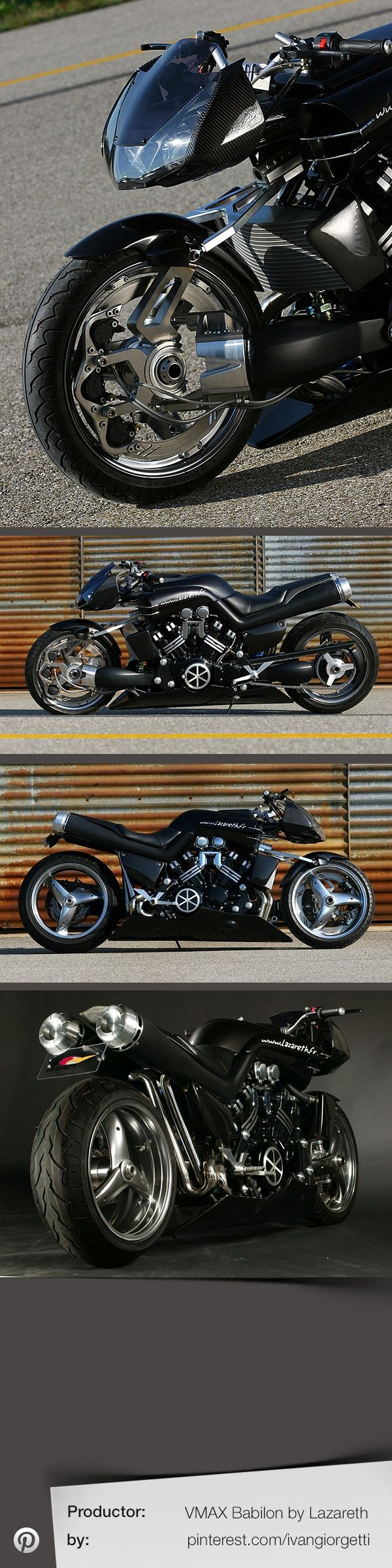 Vmax Babilon by Lazareth #custom motorcycle #moto #tuning | repinned by www.BlickeDeeler.de