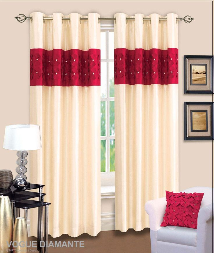 Awesome Black And Red Curtains For Living Room