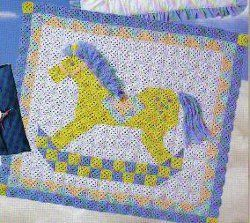 Rocking Horse Afghan. //  HOW SWEET!!!  WHAT LITTLE PERSON WOULDN'T LOVE TO HAVE THIS AFGHAN?!  ♥A
