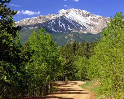 Pike's Peak, Colorado....I will go there one day! :) With my hubby Stephen Pendergrass, my boys and pups.