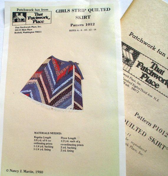 Girls Strip Quilted Skirt Pattern 1012 Regular or Floor Length by LoveNStuff14, $8.00