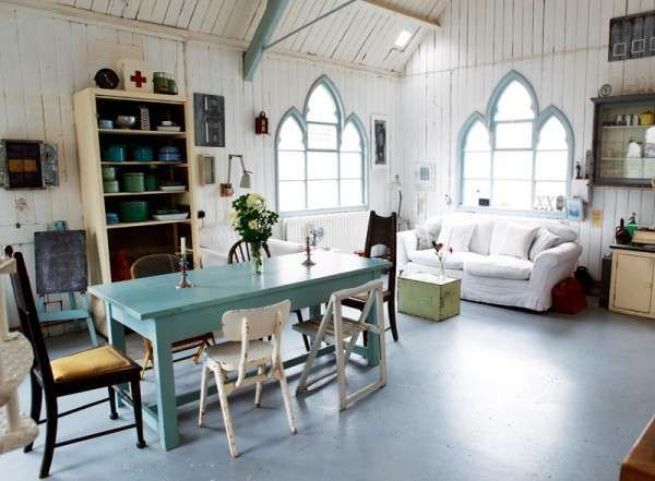 Chic Victorian Gothic Abodes - The 'Tin Chapel' is an Old Church Transformed Into a Stylish Home