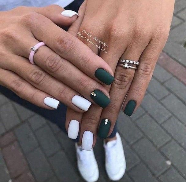 Spring Nails White Nails In 2020 Matte Nails Design Simple Spring Nails Spring Nail Art