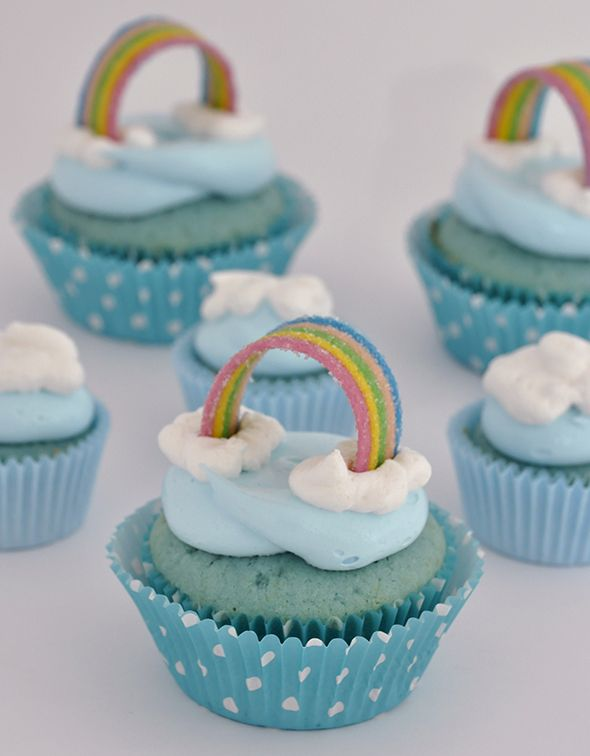 Add a teddy graham and it will look like care bear cupcakes!