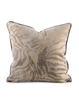 Shine by S.H.O  Silver Velvet Zebra Pillow