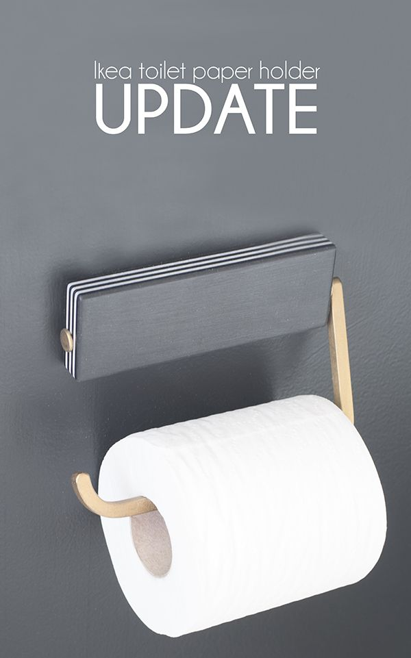 Ikea toilet paper holder makeover - Cuckoo4Design