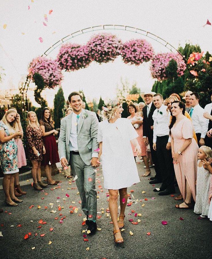 After reception dress