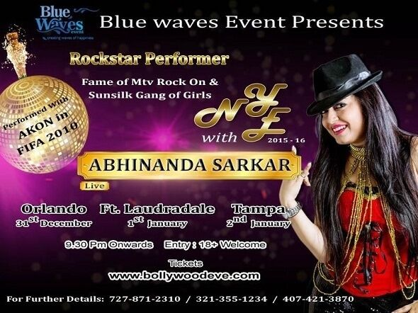 New Years eve Live Concert with Abhinanda Sarkar Event Tickets on Sulekha. Event Venue Held on Lux Ultalounge Orlando, Orlando,FL Tickets – Indian Event