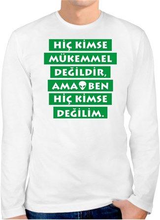 Mustafa Topaloğlu - Mükemmel - Kendin Tasarla - Erkek Bisiklet Yaka Tişört Uzun Kollu