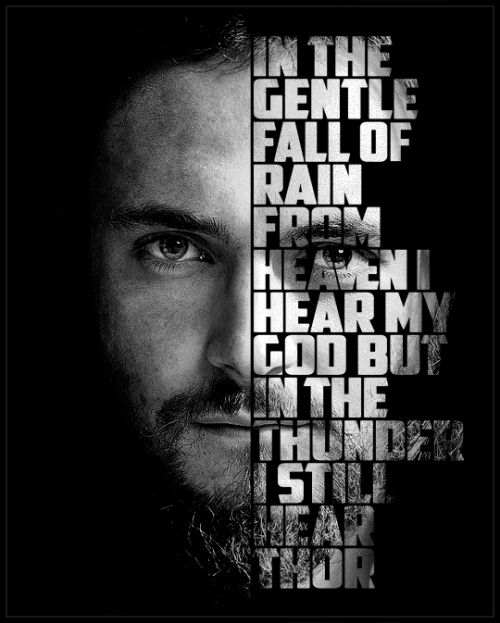 ...but in the thunder, I still hear Thor. #Athelstan #Vikings