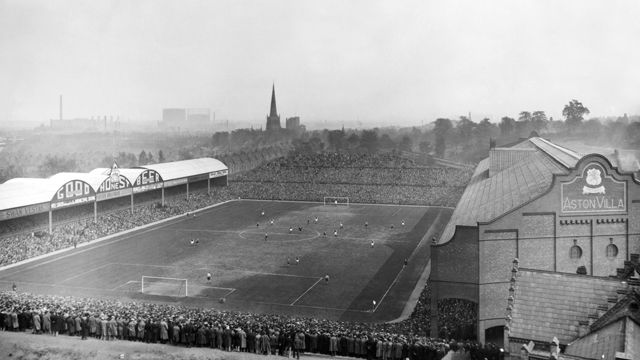 Villa Park 1907. Back when the world really was black and white.