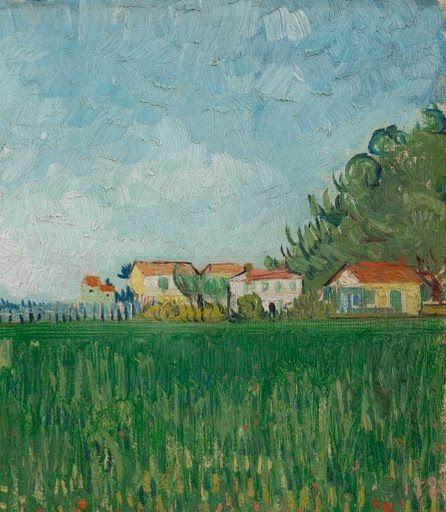 Field with Poppies - Vincent Van Gogh 1888. van Gogh Museum, Amsterdam, Netherlands. #vangogh