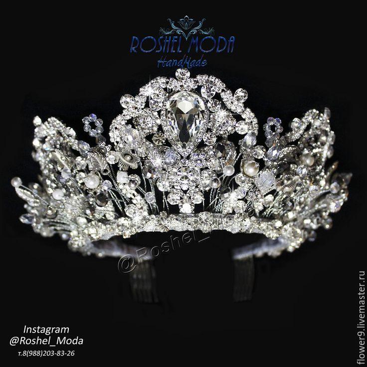 """Купить Диадема """"Княжна"""" - серебряный, диадема, диадема невесты, диадема для невесты, диадема свадебная"""