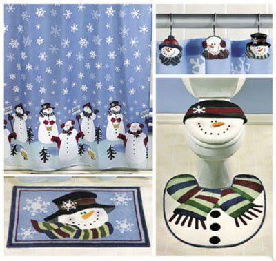 32 best Christmas Shower Curtain Set images on Pinterest | Shower ...