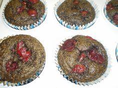 Mariannkonyha: Meggyes - mákos paleo muffin
