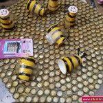 bottle cap bee craft for kids