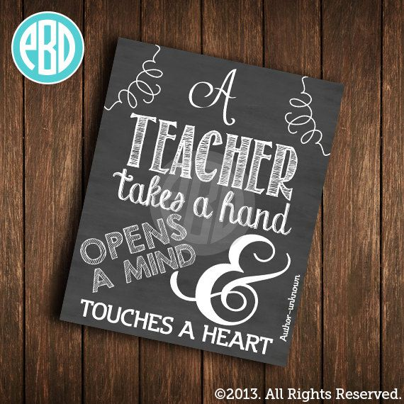 Personalized Teacher Print   Teacher Gift  End by PaperBellaDesign, $10.00