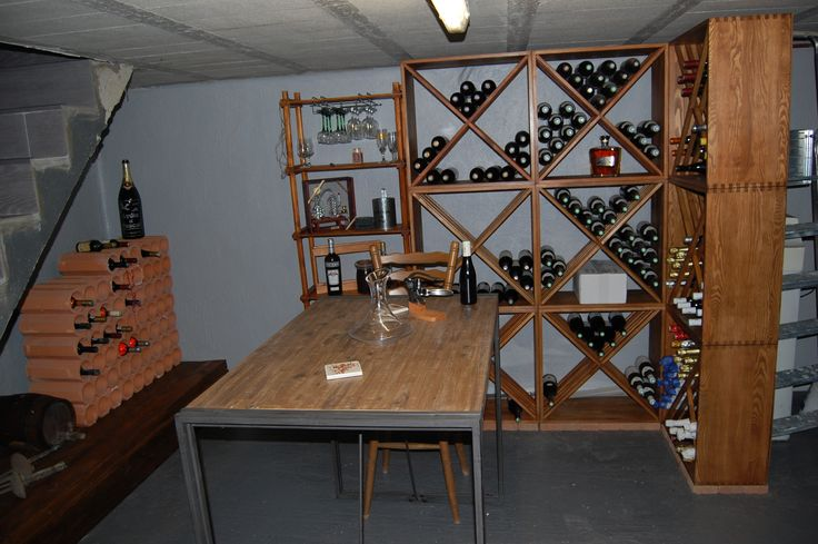 Casier bouteilles casier vin rangement du vin - Amenagement bar a vin ...