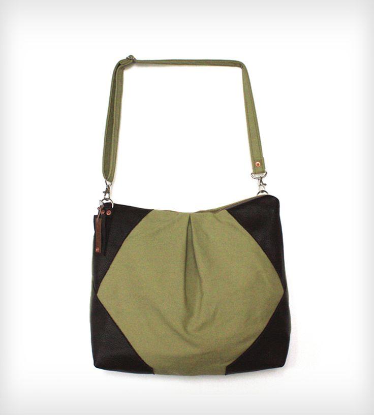 Allison Leather & Canvas Messenger Bag
