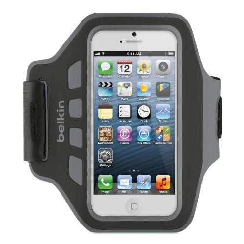 Iphone 5 Armband for running  Example: Belkin Neoprene Ease-Fit Armband for iPhone 5 and 5s - Black/Grey Belkin http://www.amazon.co.uk/dp/B0092LXNWA/ref=cm_sw_r_pi_dp_6B1zub025WJ93