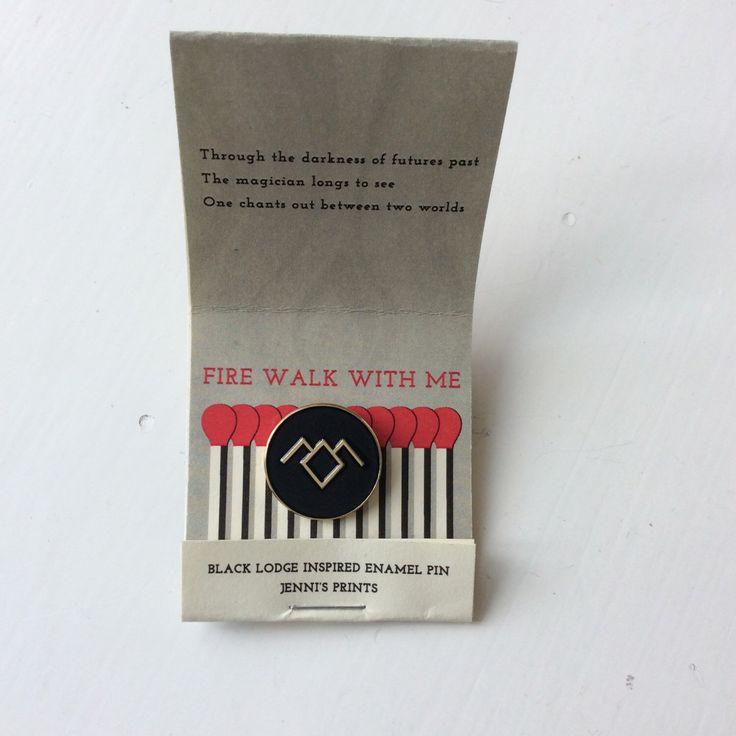 Twin Peaks inspired Black Lodge replica fan pin David Lynch Cooper Audrey Laura Palmer Damn Fine Coffee Owl 90s tv-show by JennisPrints on Etsy https://www.etsy.com/listing/238030840/twin-peaks-inspired-black-lodge-replica