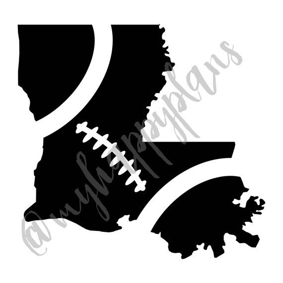 Louisiana Football State Shape Vinyl Decal // Car by MyHappyPlans