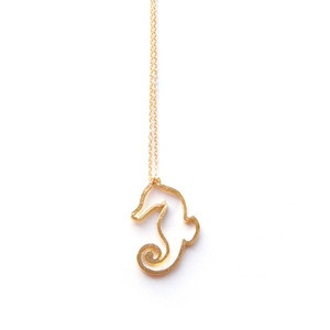 Sleepy Seahorse Necklace now featured on Fab.