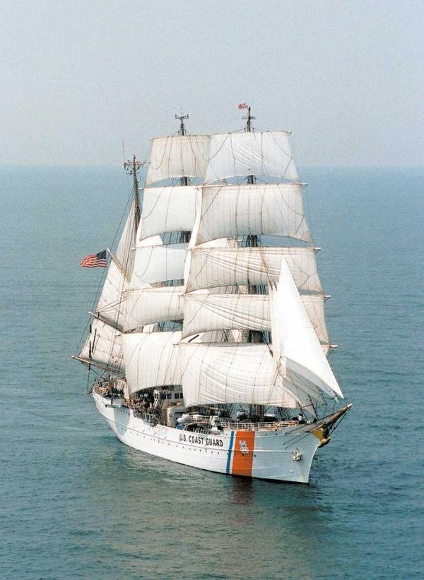 U.S. Coast Guard Clipper Ship...USS EAGLE - frequently docked at the US Coast Guard Academy, New London, CT.