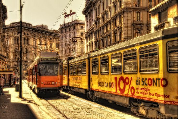 Tram. Milan, Italy