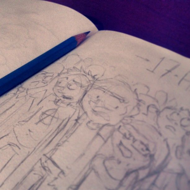 14 min #sketchbook #sketch #doodle #comic #elbocetoaleatorio