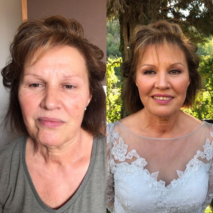 Antes y después maquillaje piel madura.sin filtros
