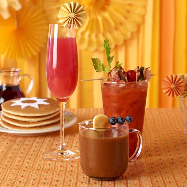 Cinnamonny Coffee 1 part Pinnacle® Cinnabon® Vodka  1 part creamer 3 parts coffee  The Pinnacle® Breakfast Bliss  1 part Pinnacle® Mimosa Vodka  1 part cranberry juice 1 part grapefruit juice  Bloody Mary 2 parts Bloody Mary Mix 1 part Pinnacle® Original Vodka Mix and garnish with lime wedge, celery stalk, cucumber, tomato, pickles and olives as desired.