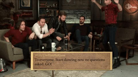 dance dancing dance party critical role travis willingham matthew mercer liam o'brien sam riegel talks machina spontaneous brian foster #gif from #giphy