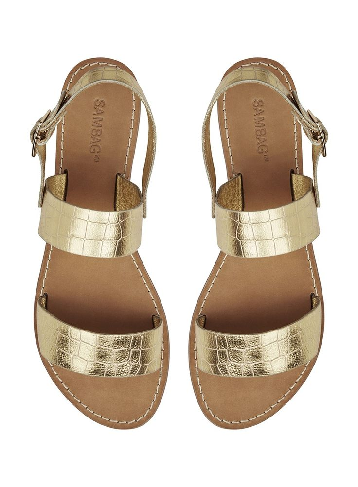 Ruby Croc Embossed Leather - Sandals - Shoes
